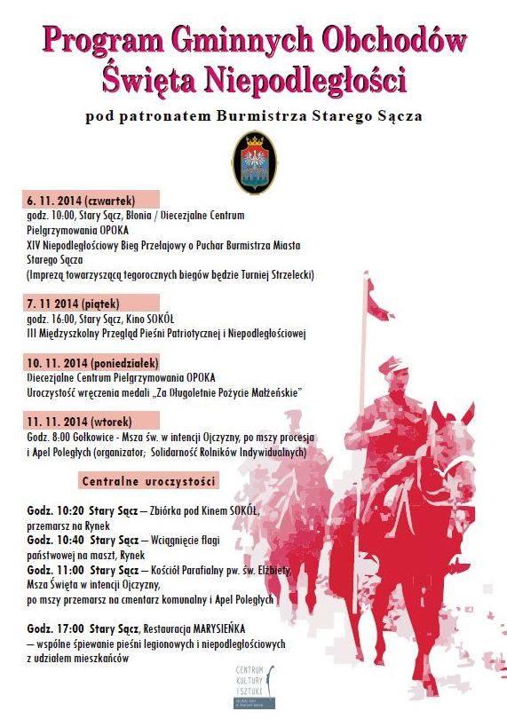 Stary Sącz obchody niepodeległości 6-11.11